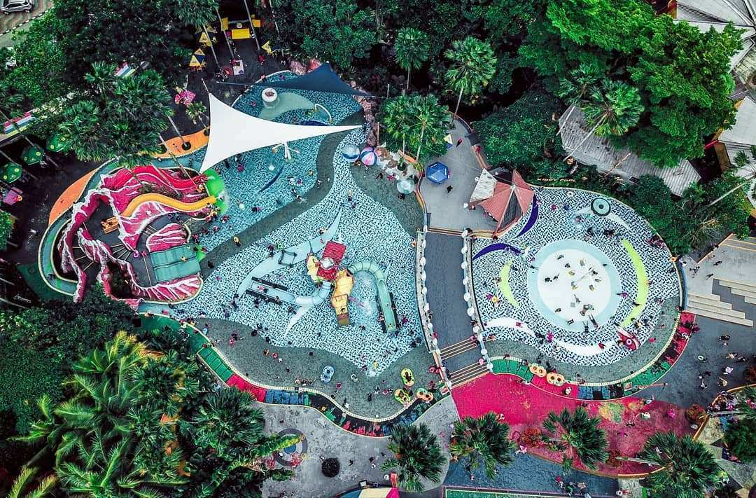 View The Jungle Waterpark dari Atas, Image From @boncu_f150