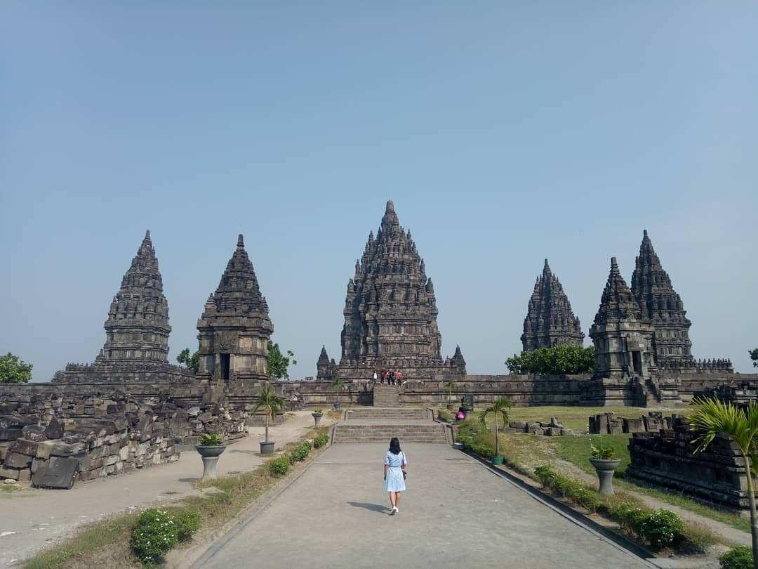 Pemandangan Candi Utama di Candi Prambanan, Image From @bertha_dori