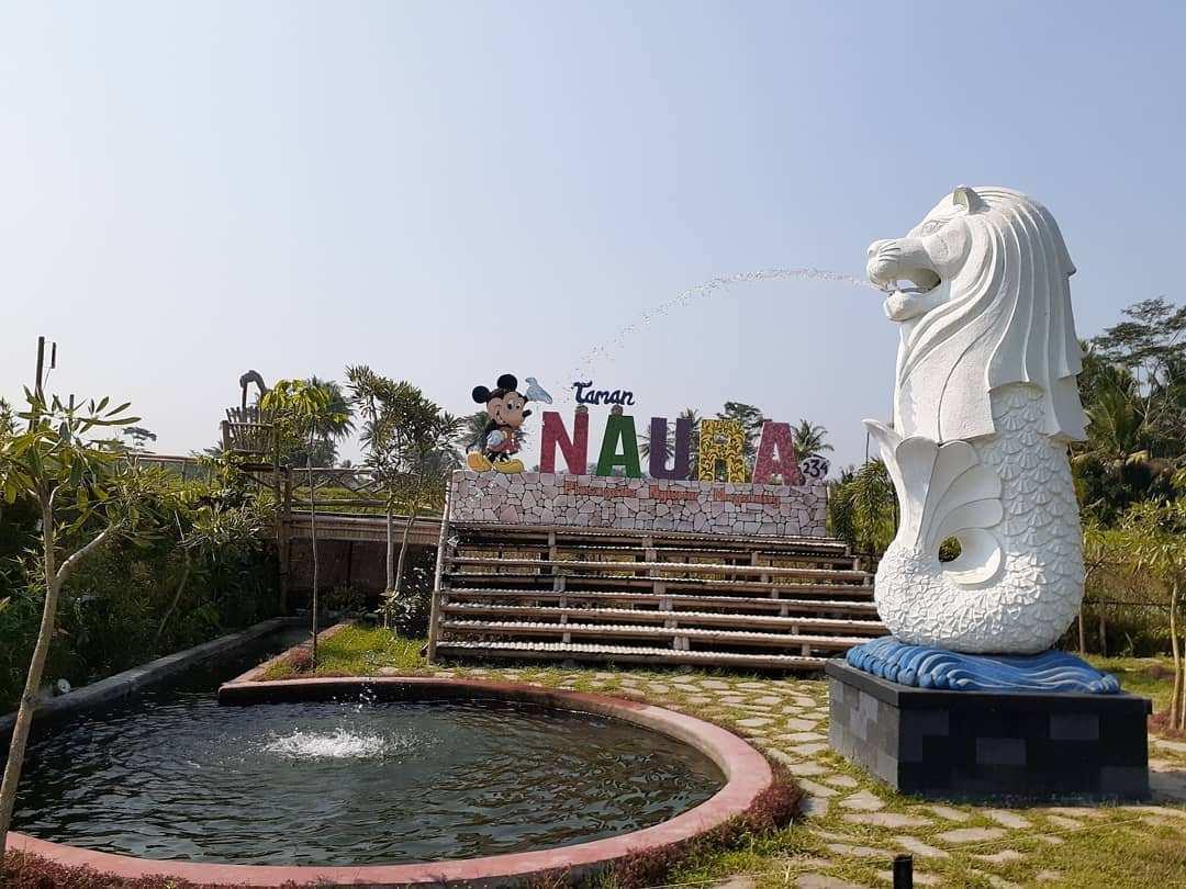 Replika Patung Merlion di Taman Naura Magelang, Image From @shaziyaku2609