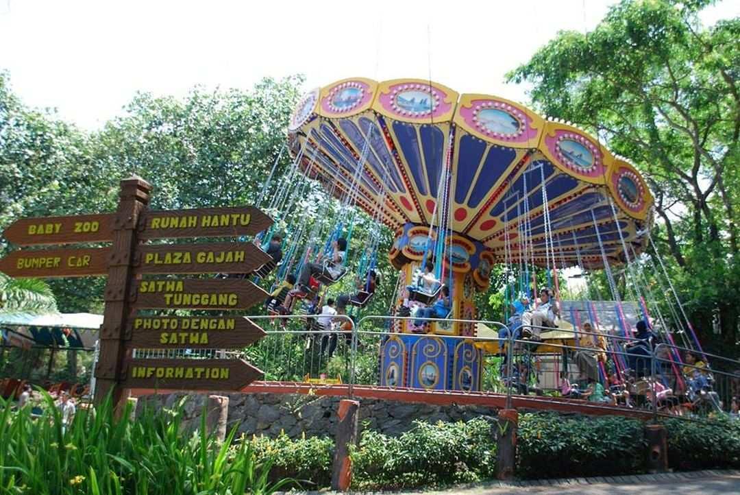 Amusement Park di Taman Safari Prigen, Image From @tamansafariprigen