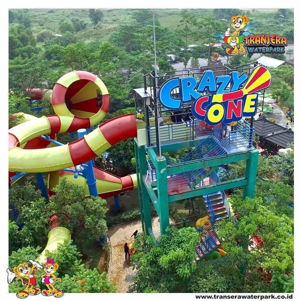Crazy Cone di Transera Waterpark, Image From @transerawaterpark.bekasi