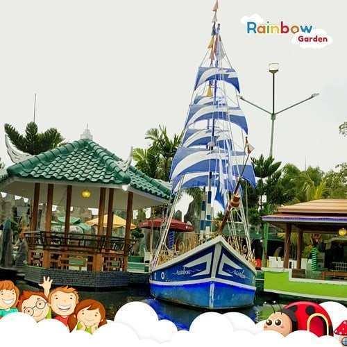 Kapal di Rainbow Garden Bekasi, Image From @rainbowgarden.harapanindah
