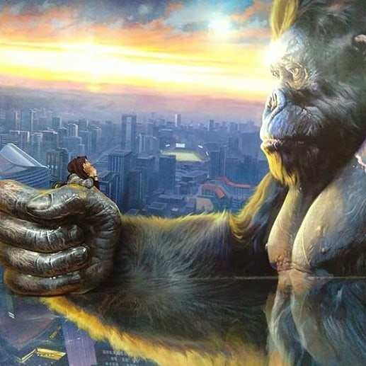 King Kong di Amazing Art World, Image From @emamlni