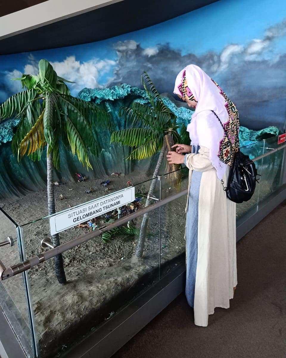 Miniatur Tsunami di Museum Tsunami Aceh, Image From @shella.hutagalung