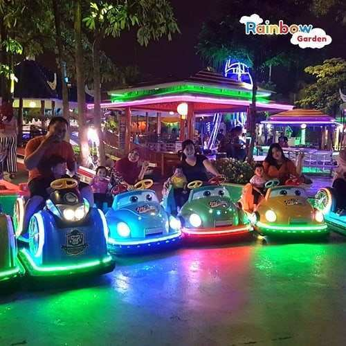 Mobil-mobilan di Rainbow Garden Bekasi, Image From @rainbowgarden.harapanindah