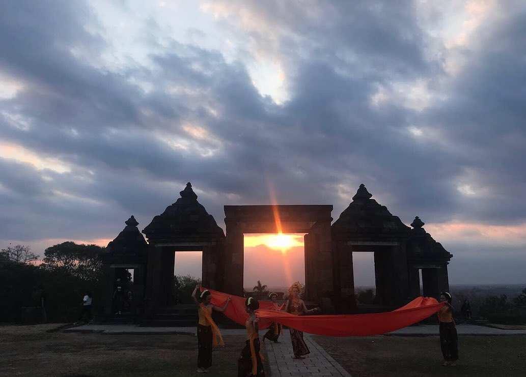Pemandangan Penari di Ratu Boko Jogja, Image From @diniamajida