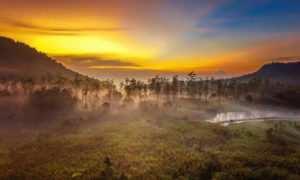 Pemandangan Sunrise di Ranca Upas Bandung, Image From @ranca_upas