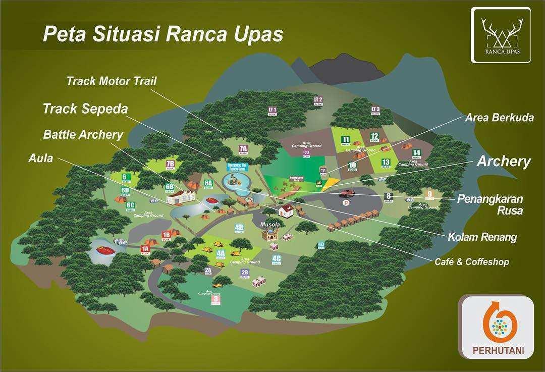 Peta Area Wisata Ranca Upas Bandung, Image From @ranca_upas