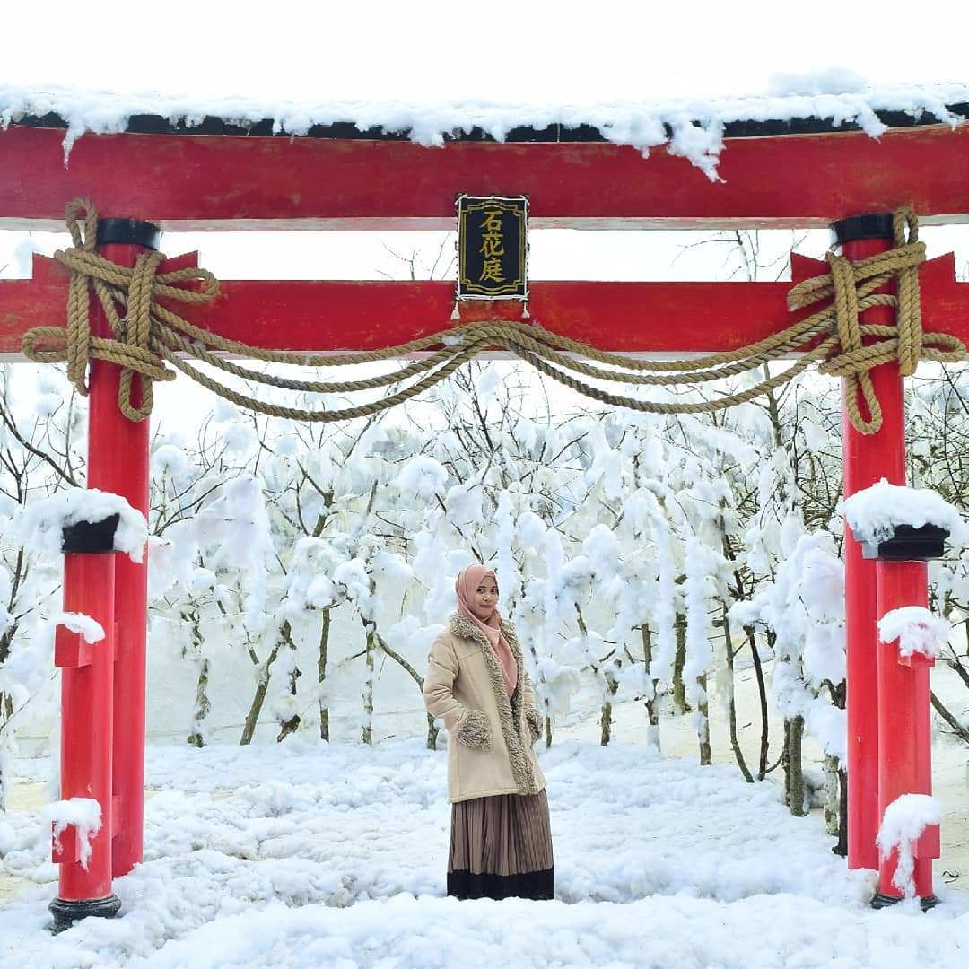 Suasana Seperti Winter di Batu Flower Garden Image From @aisya1197