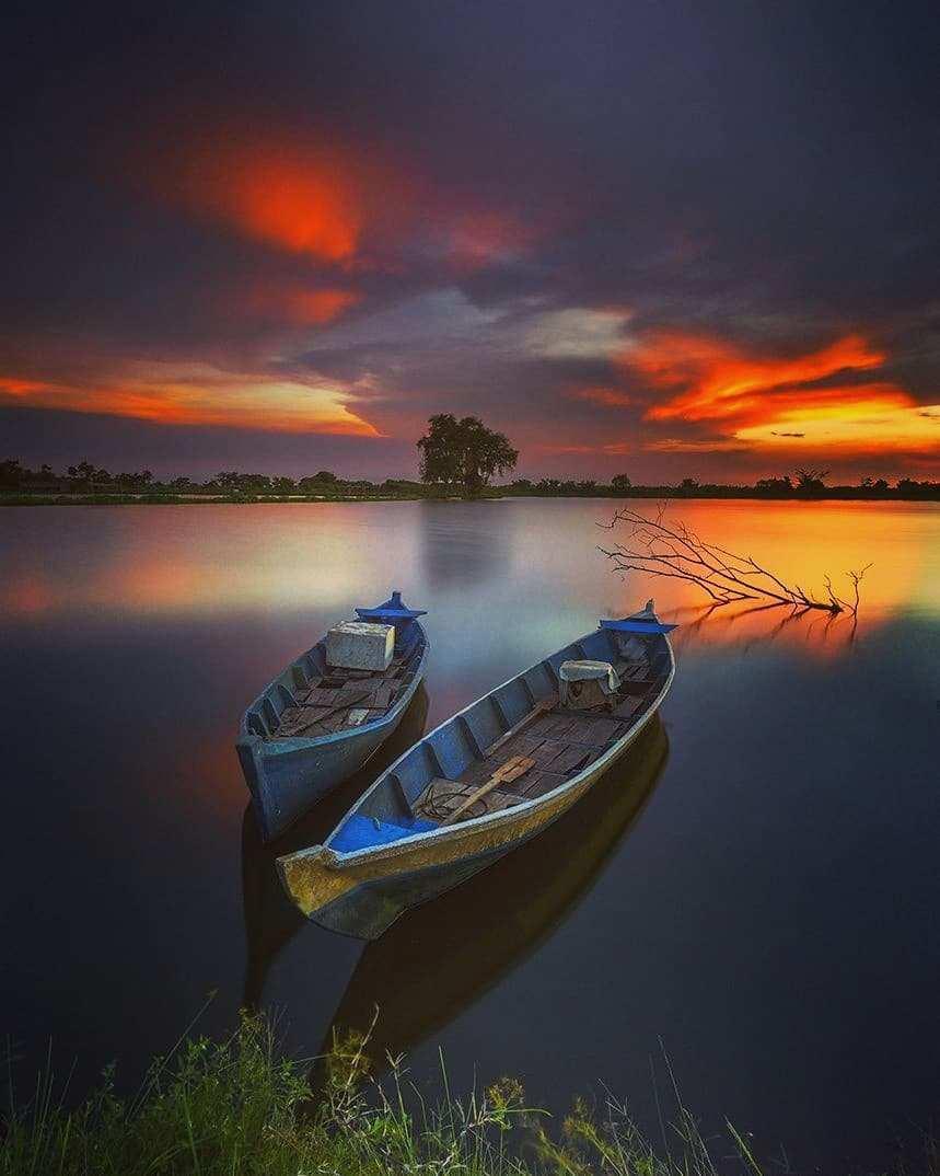 Sunset di Waduk Cengklik, Image From @prastyo_agung_n