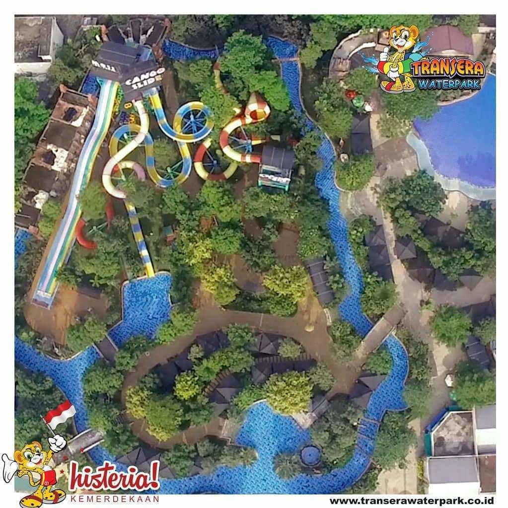 Transera Waterpark Dilihat Dari Atas, Image From @transerawaterpark.bekasi