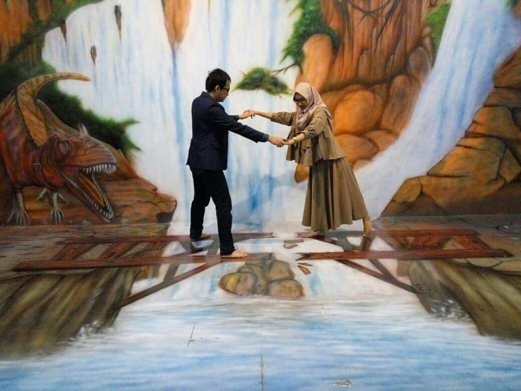 3D Jembatan di The Illusion Bogor Image From @r.d.m12
