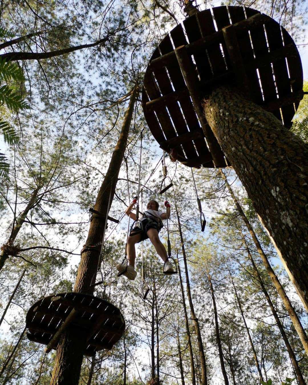 Bermain Outbond di Kopeng Treetop Semarang Image From @feritanata
