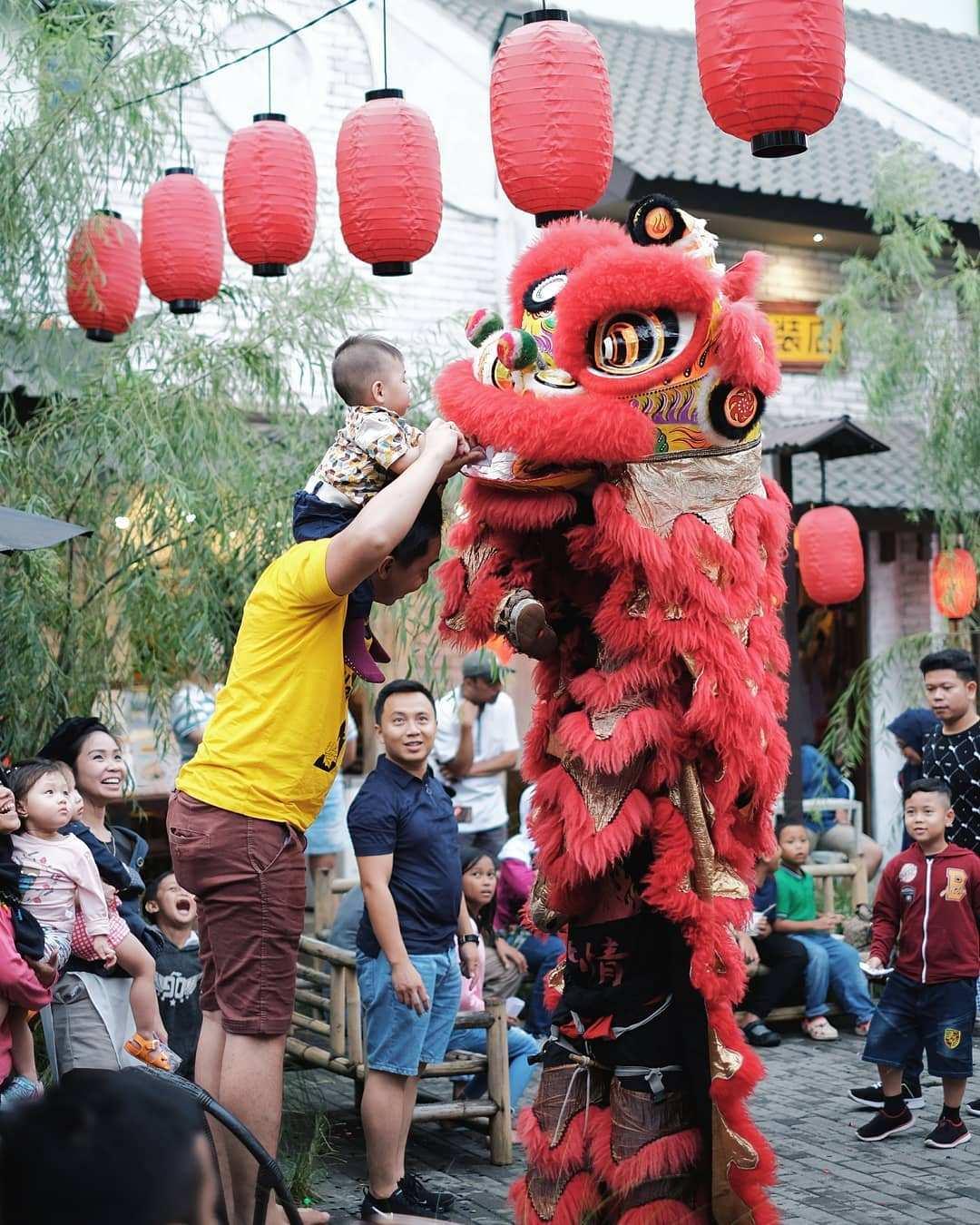 Pertunjukan Barongsai di Chinatown Bandung, Image From @chinatownbandung