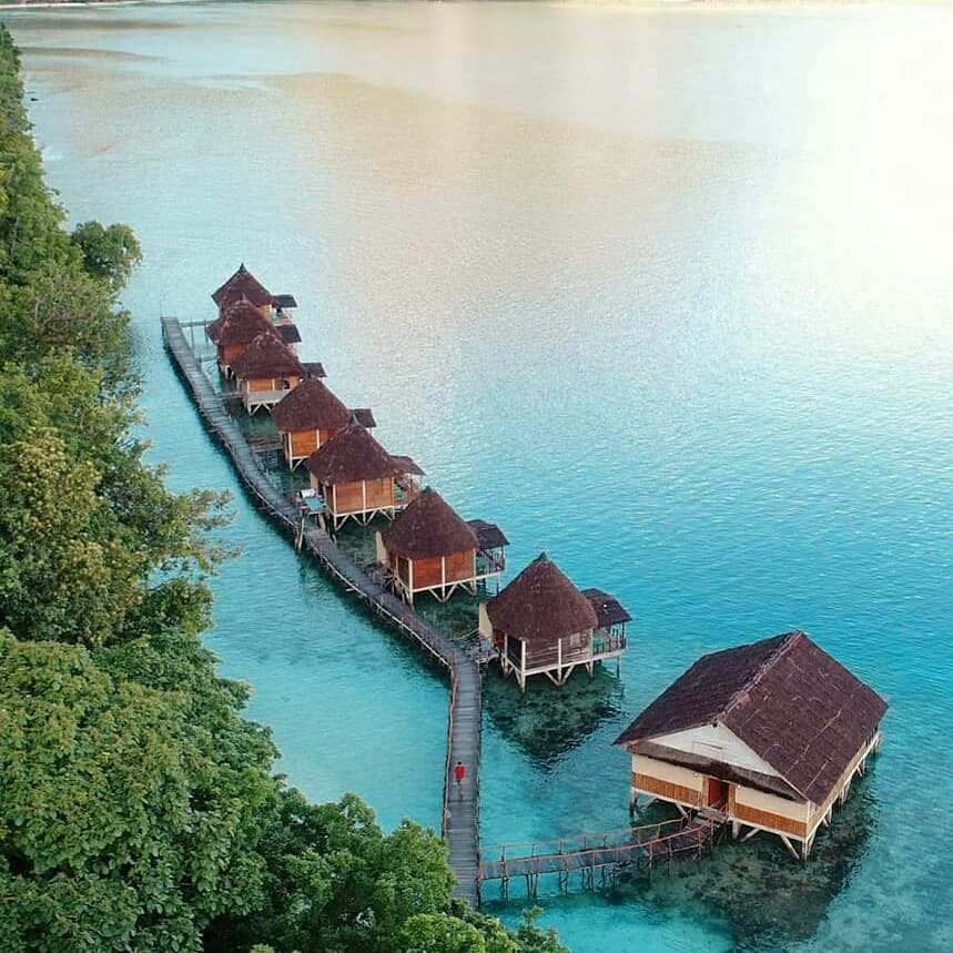 Pemandangan Ora Resort di Pantai Ora Maluku, Image From @awesome.indonesia