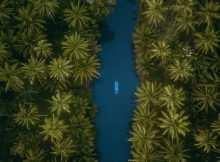 Pemandangan Sungai Maron Pacitan Dari Atas, Image From @inspirasi_liburan