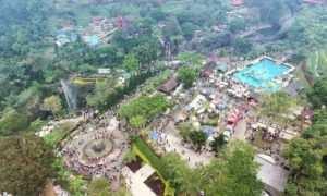 Kawasan Lokawisata Baturraden yang di Lihat Dari Atas, Image From @drone_purwokerto