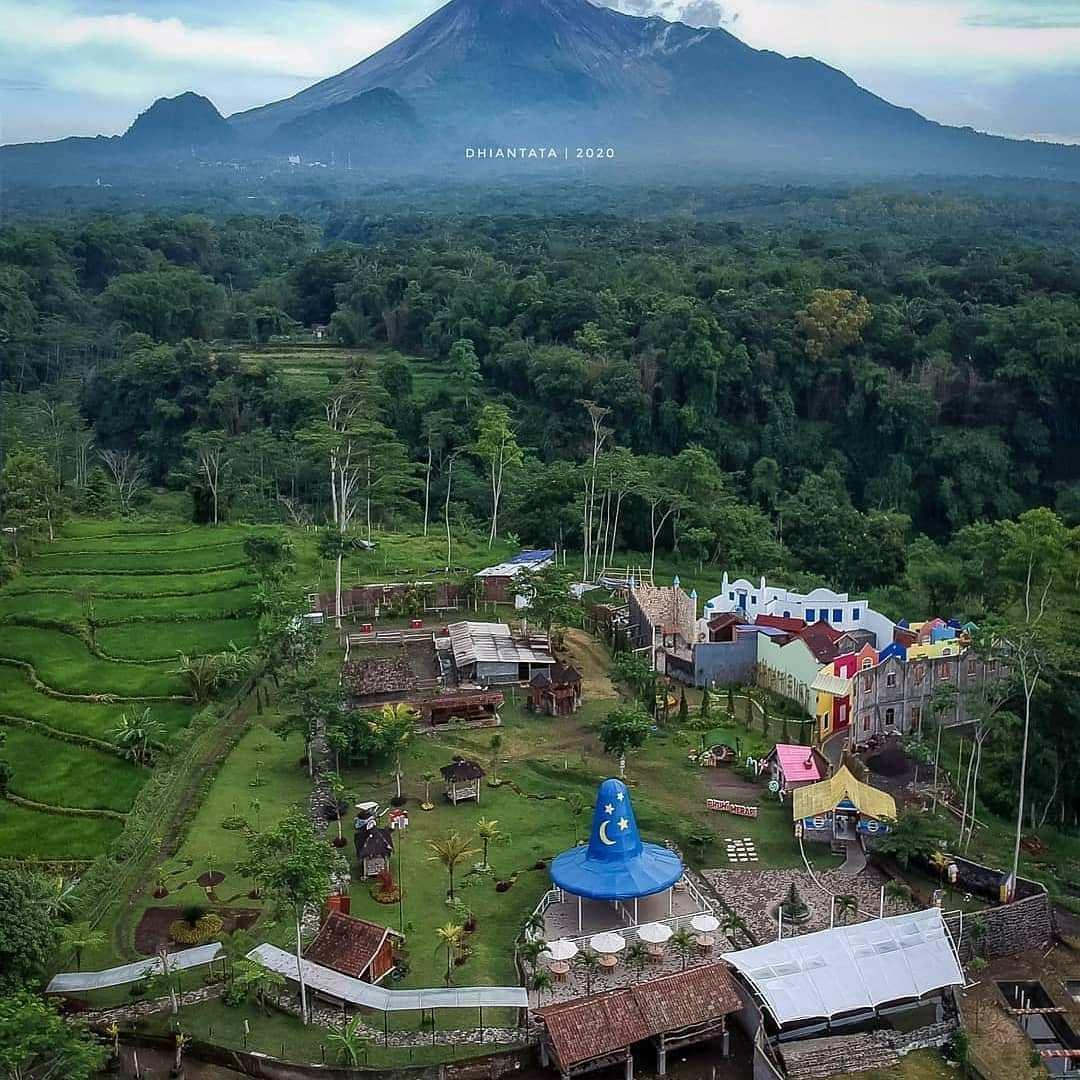 Bhumi Merapi Dilihat Dari Atas, Image From @dhian_hardjodisastro