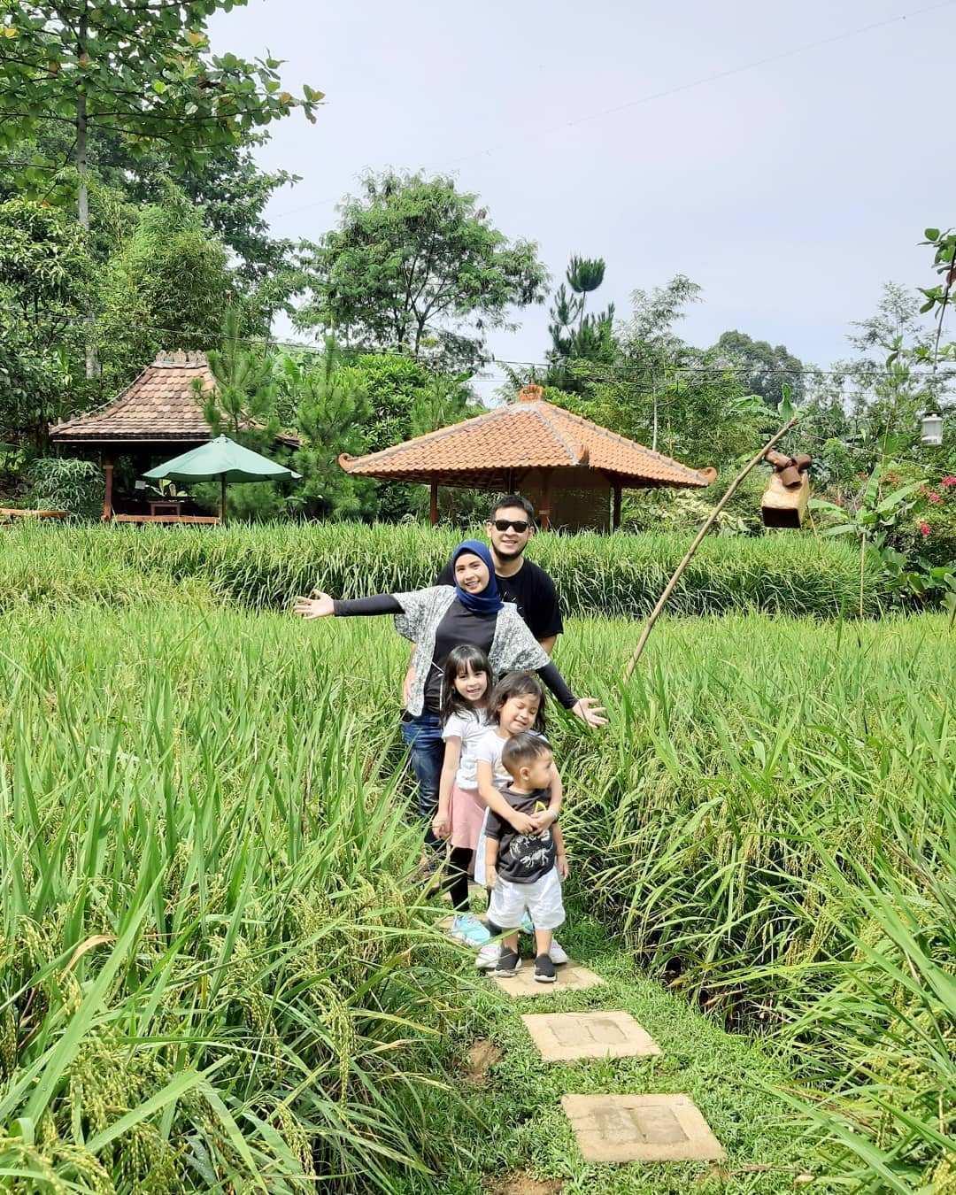 Quality Time Bersama Keluarga di Sawah Segar Sentul Bogor Image From @achmadrezav
