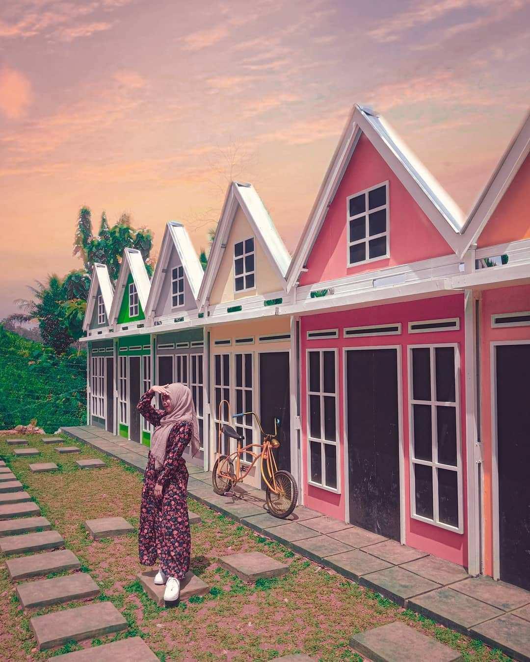 Rumah Warna Warni di Lengkung Langit Lampung, Image From @nop.nop95
