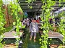Area Kolam Ikan di Djaja Cafe Pasuruan, Image From @bendottetapsemangat