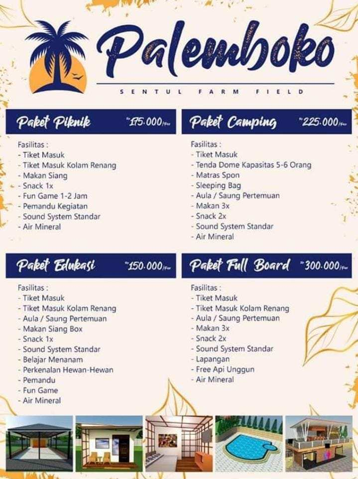 Daftar Harga Palemboko Sentul Farm Field Bogor