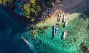 Keindahan Pantai dan Pulau Rubiah Dari Atas, Image From @gonzalobendito