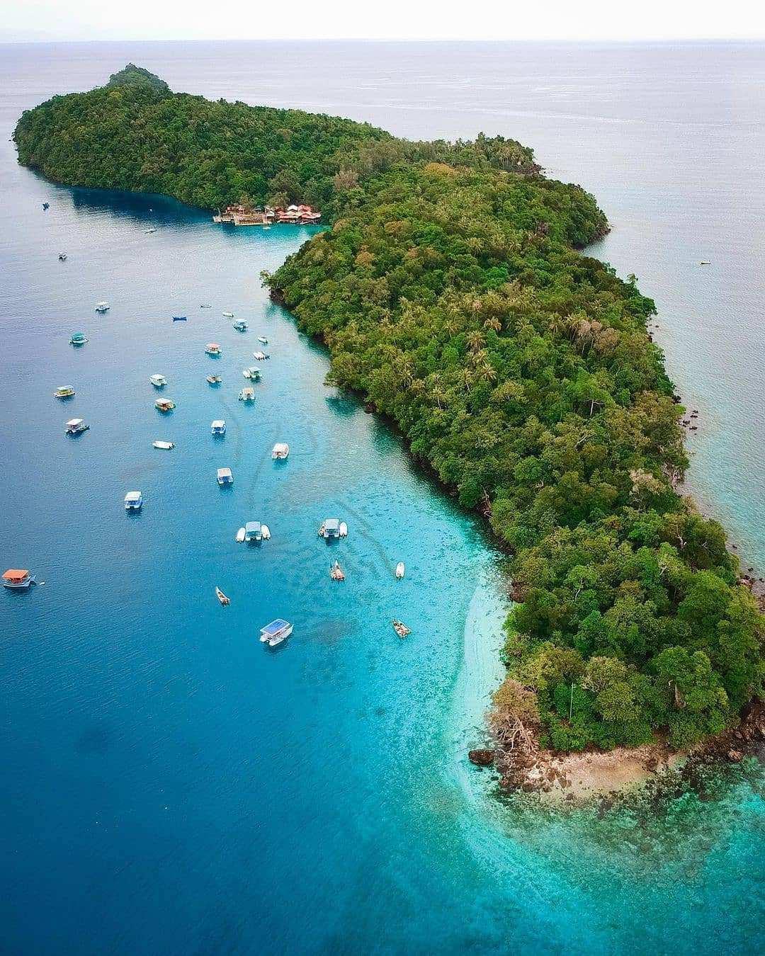 Pulau Rubiah dilihat Dari Atas, Image From @bagindamaulana_