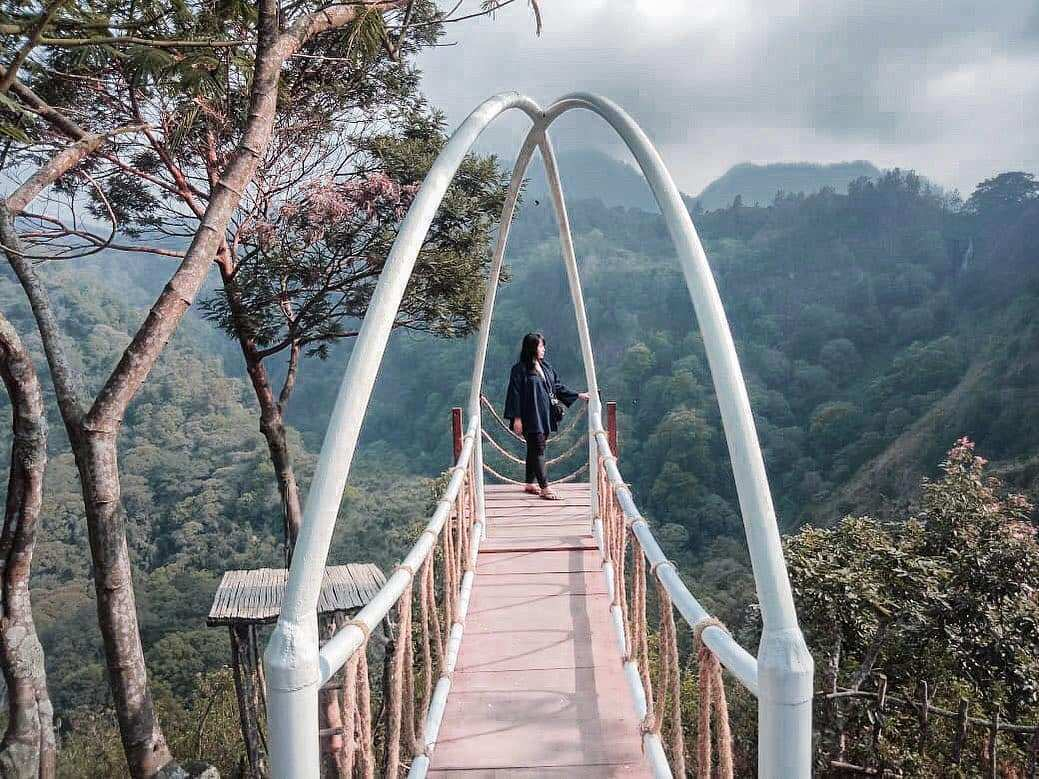 Spot Foto Jembatan di Wisata Panorama Petung Sewu Image From @vvfitrias
