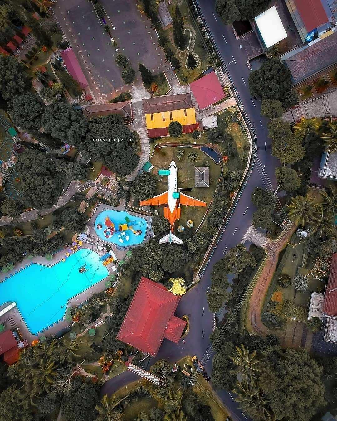 Taman Kyai Langgeng Magelang Dilihat Dari Atas Image From @dhian_hardjodisastro