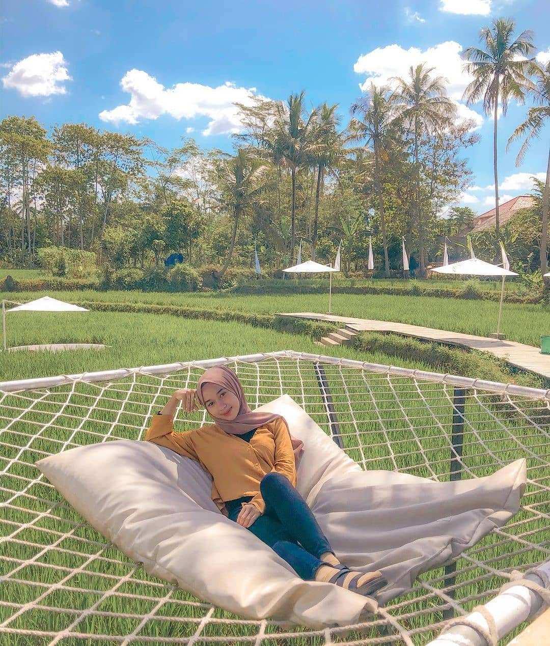 Tempat Tidur Melayang di Svargabumi Borobudur, Image From @lisasft