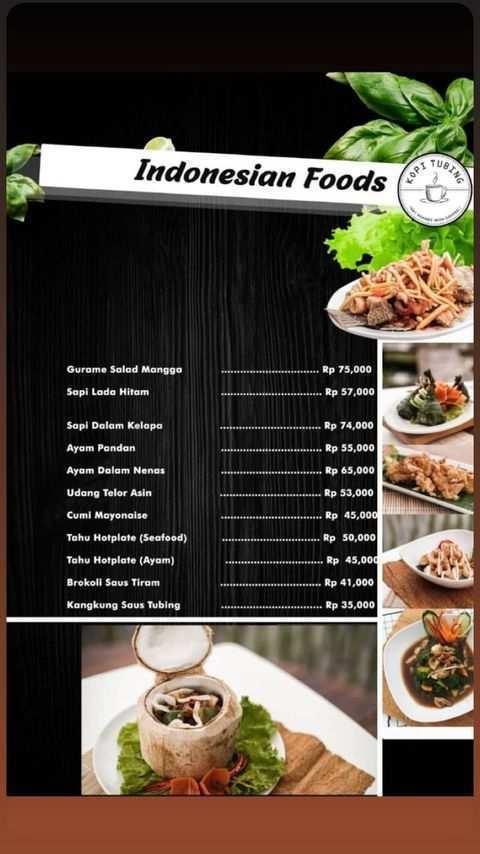 Menu Indonesians Foods di Kopi Tubing Bogor Image From @kopitubing