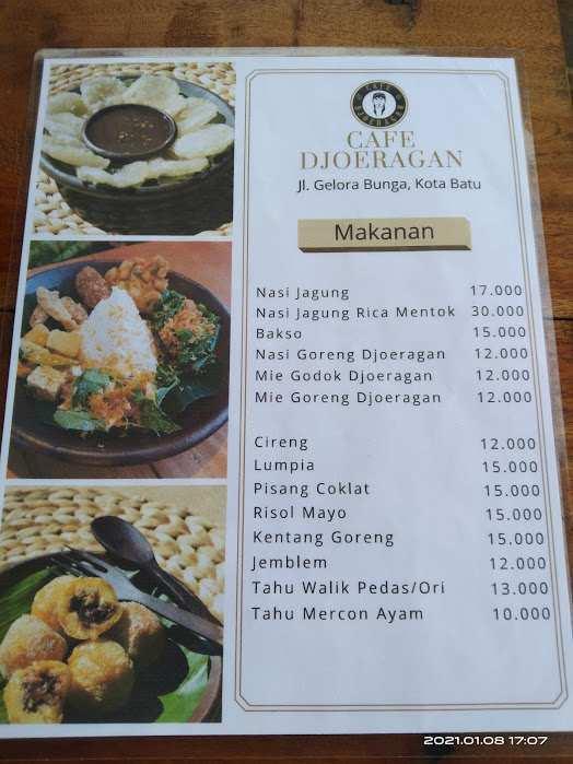 Menu Makanan di Djoeragan Cafe Batu Image From @Victor Wardhana