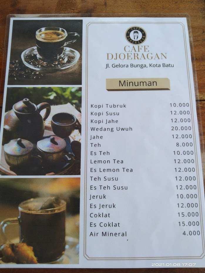 Menu Minuman di Djoeragan Cafe Batu Image From @Victor Wardhana