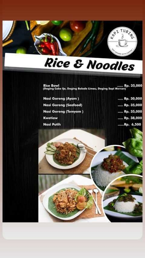 Menu Rice and Noodles di Kopi Tubing Bogor Image From @kopitubing