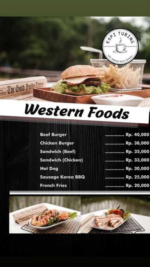 Menu Western Foods di Kopi Tubing Bogor Image From @kopitubing