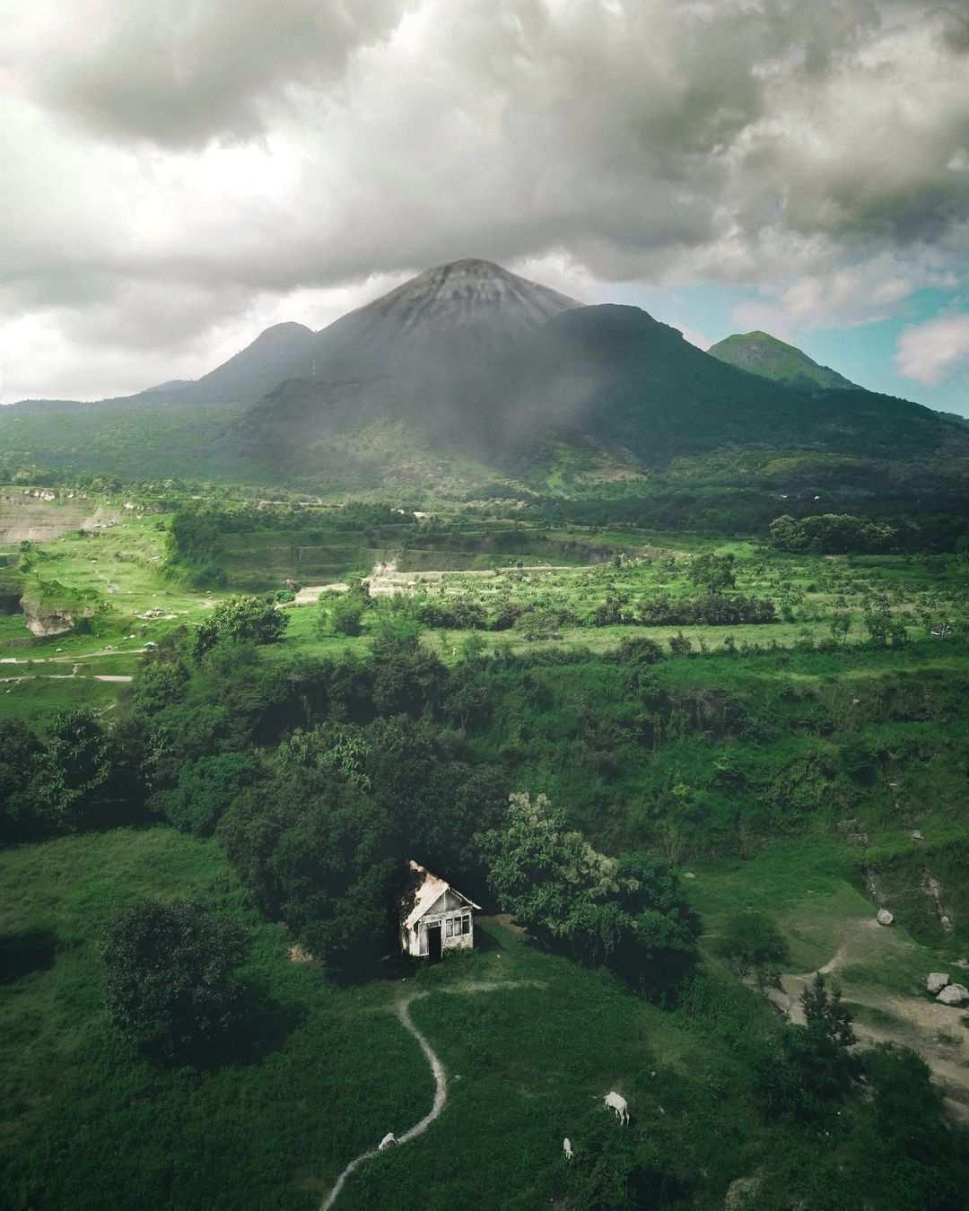 Rumah Yang di Foto Dari Atas di Ranu Manduro Mojokerto Image From @caionugroz