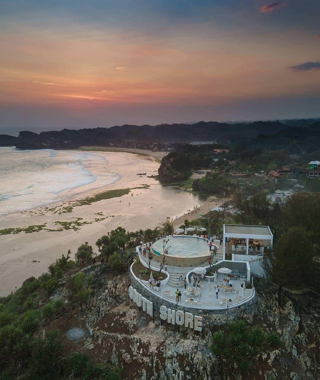 South Shore GunungKidul Dilihat Dari Atas Image From @kinaryo_palupi
