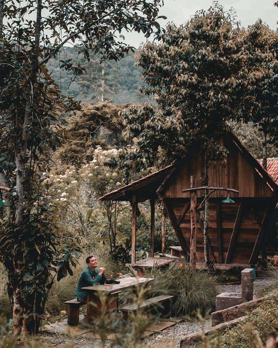 Warung Kopi Gunung Ciwidey Yang Dikelilingi Pepohonan Image From @_novanr