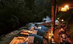 Pineus Tilu Pangalengan Di Saat Malam Image From @pineustilu