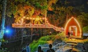 Wana Wisata Clirit View Saat Malam Hari Image From @_rizkymulya_