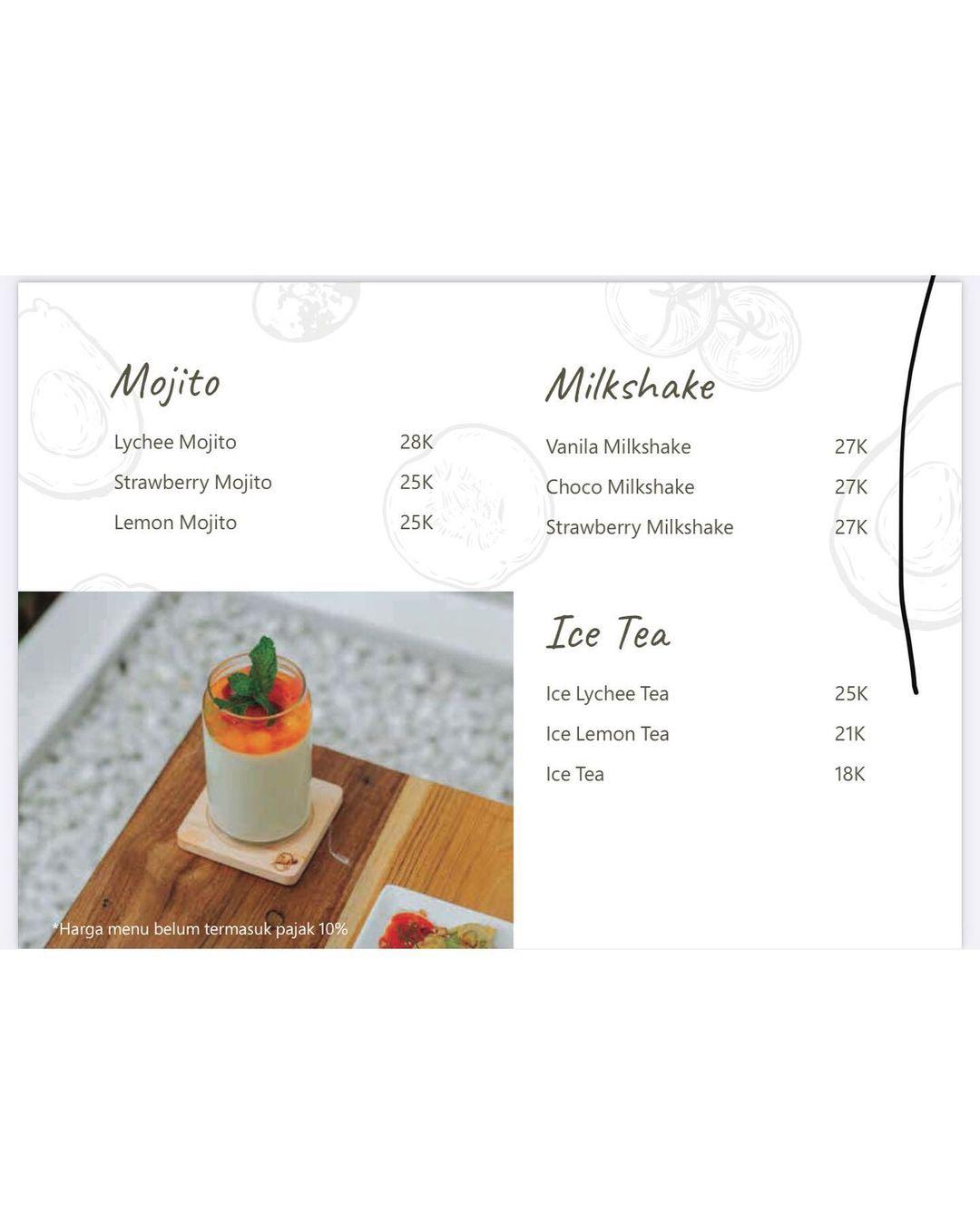 Menu Minuman 2 Padiku Eatery Image From @hargamenucek