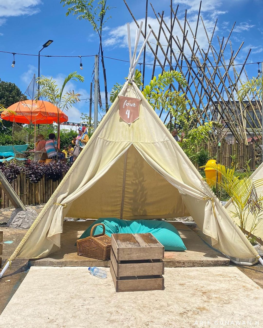 Tenda Indian Di The River Malino Image From @4rifgunawan