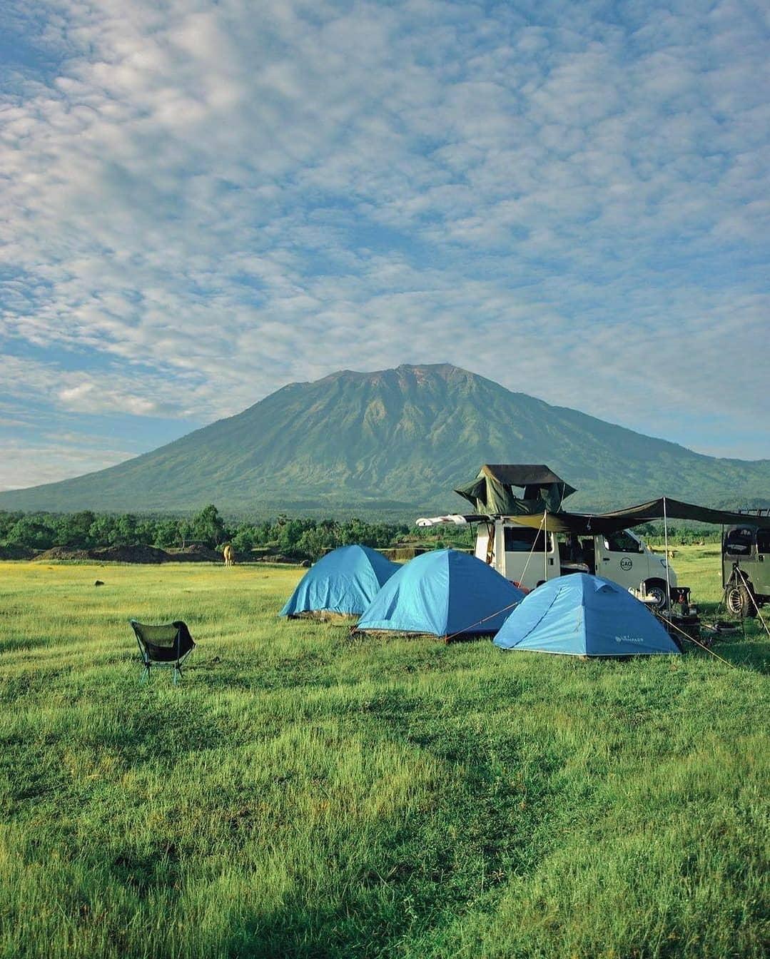 Camping Di Savana Tianyar Bali Image From @akbarhendar